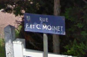 6-Plaque de la rue dédiée à Chasja et Francois Moinet à Saint-Jean-d'Angély en Charente Maritime