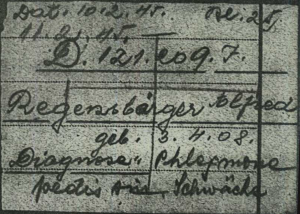 Alfred Regensburger – cause of death