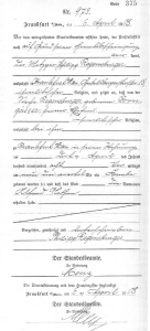 Alfred Regensburger – certificate of birth