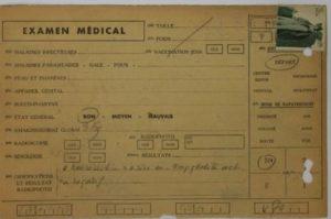 Capture examen médical