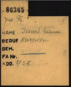Capture israel salomon carte