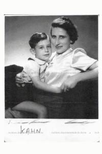 Marthe Kahn et son fils Claude