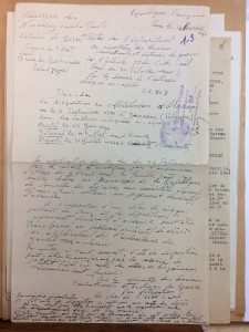 Mitelman Abram DAVCC lettre officielle 8 11 1946 instruction disparition