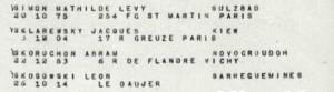 SKOSOWSKI Leon Memorial Shoah Convoi 77 liste