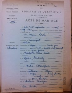 acte mariage