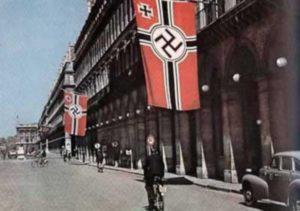 drapeau nazi sur paris