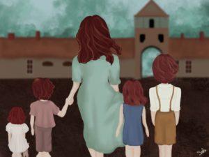 famille devant Auschwitz_CHEMLA