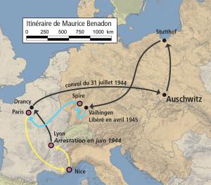 Maurice Benadon itinéraire