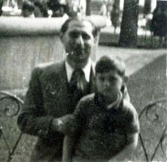 Herbstmann Henri Yad Vashem archive photo with son Maurice