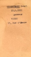 Herbstmann Henri Allier departmental archives, register of Jews, file cart