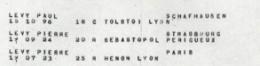 LEVY Pierre Memorial Shoah Convoi 78 liste