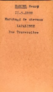 SAMUEL Henri Archives Allier fiche