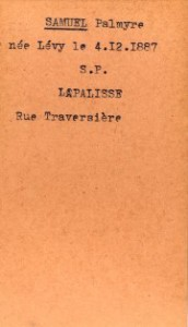 SAMUEL Palmyre Archives departementales Allier fiche