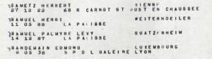SAMUEL Palmyre Memorial Shoah Convoi 77 Liste