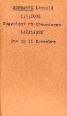 SCHWARTZ Leopold Archives Allier fiche Leopold
