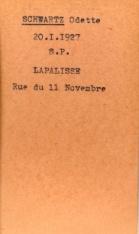 SCHWARTZ Leopold Archives Allier fiche Odette