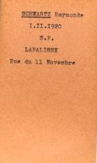 SCHWARTZ Leopold Archives Allier fiche Raymonde