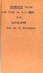 SCHWARTZ Leopold Archives Allier fiche Reine