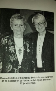 Denise HOLSTEIN and the teacher