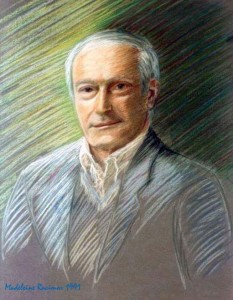 Michel Racimor, pastel portrait by his daughter Madeleine