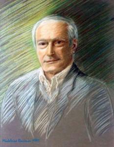 Michel Racimor, portrait pastel par Madeleine, sa fille