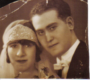 Marriage of my (Michelle's ??) parents Ida Menakovski  Isaac Goldstein 1929