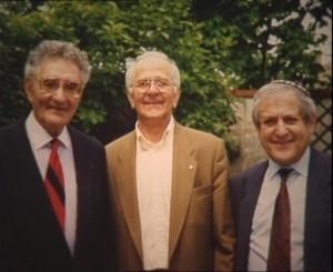 Minkowski Moszek (à droite) photo Volker Mall avec Jerome SCORIN (centre) et Maurice Benadon (à gauche)