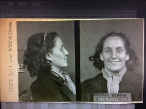 Lilli SEGAL née SCHLESINGER, in custody in Prefecture de Police de Paris, 23/11/1943