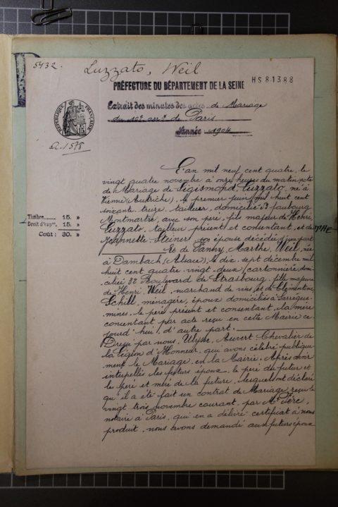 Fanny LUZZATO, née Weil