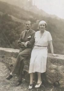 Doc.D. Alexandre Voronoff avec sa femme, Marguerite