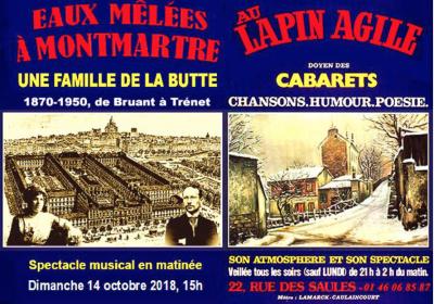 <em>Eaux mêlées à Montmartre</em> au Lapin agile.