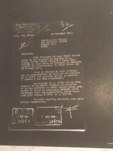Document 13. Bernard JEIFA. MIC_AJ38_1748 dossier 3612. Lettre