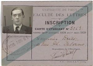 4 Francis REISS carte etudiant lettres Paris 38 39