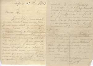 Lettre de Francis REISS a ses parents avril 1945
