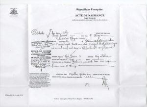 Maurice Adato acte naissance