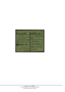 KREINDEL_Arthur Certificat de décès ITS Archives
