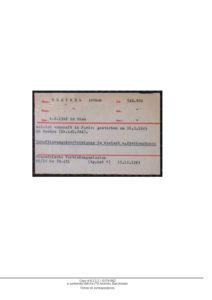 KREINDEL_Arthur Matricule Dachau ITS Archivs