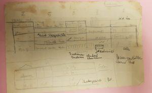 5000-COHN_LEO_Photo 3 plan de l'appartement de Strasbourg, archives familiales Noemi Cassuto