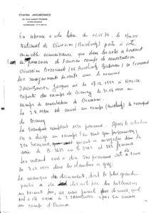 Musée National d'Auschwitz: Traduction de la lettre par Charles Jakubowicz.