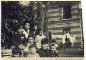 Louveciennes. Front row right to left are Paulette, Nathan and Annette Szklarz