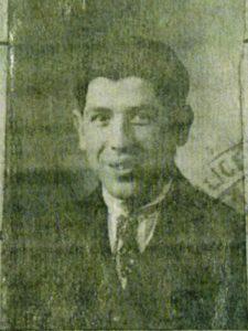 Moïse Szwindler, photo sur le récépissé de demande de carte d'identité 22 janvier 1930.