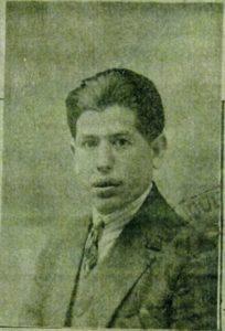 Moïse Szwinlder, photo sur le récépissé de demande de carte d'identité 5 juin 1929.