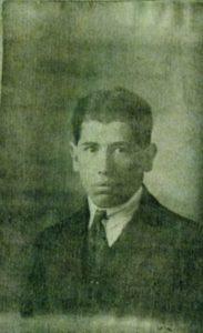 Photo sur le récépissé de demande de carte d'identité formulée le 2 janvier 1925, archives départementales de Rouen