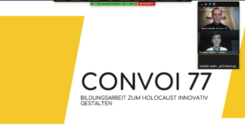 International Holocaust Remembrance Day: Convoi 77 participates in a webinar in Austria