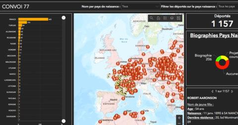 Découvrez notre nouvel outil numérique de géolocalisation des déportés