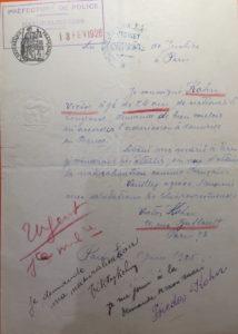 27 – Victor et Frieda Kohn -lettre manuscrite – dossier naturalisation – cote BB_11_9644