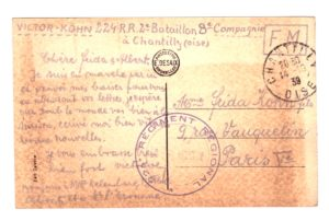 29 – Victor Kohn-a-Frida-14oct1939 – archives familiales