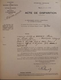 3 – Frieda Kohn – acte de disparition Frieda – DAVCC du SDH – 29091-4