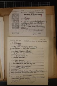 Certificat de mariage de Suzanne et Eddy, préfecture de la Seine