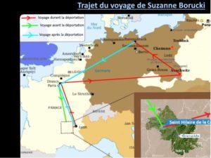 Le parcours de Suzanne Borucki-document créé par des élèves